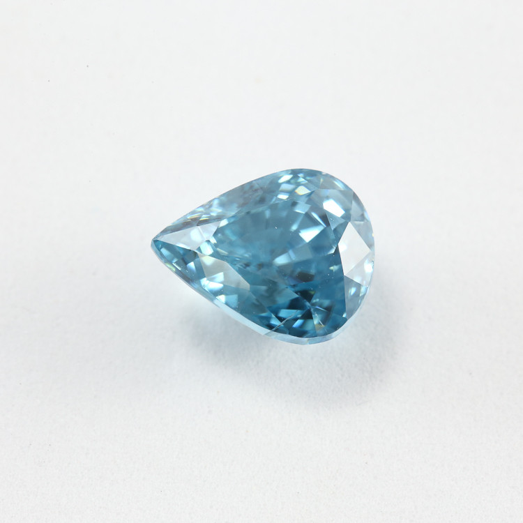 5.97ct Lab Certified Blue Zircon
