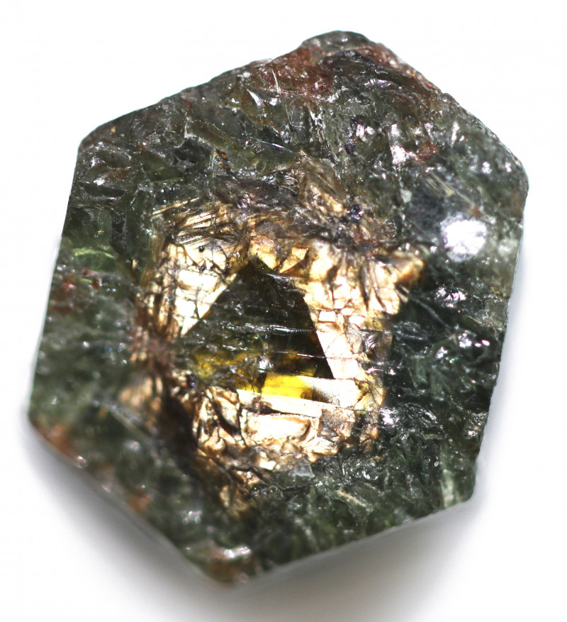 35.50 CTS GOLD CENTRED SAPPHIRE ROUGH-KENYA-NATURAL [F8221]