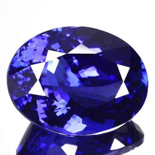 23.04 Cts Ultimate Natural Purple Blue Tanzanite Oval Tanzania Gem