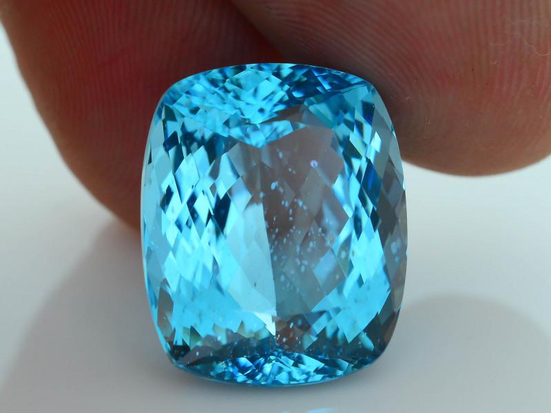Rare 15.89 ct Amazing Luster Blue Apatite SKU.7
