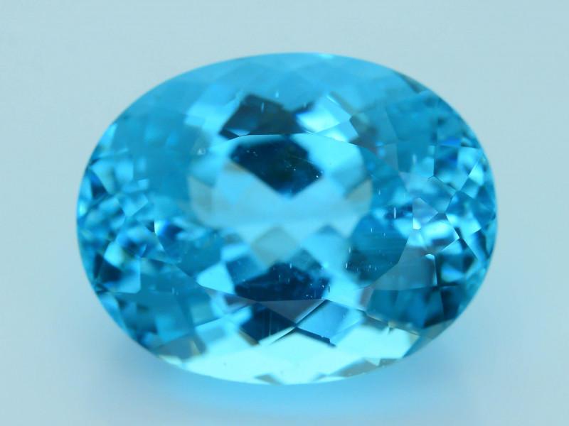 Rare 13.57  ct Amazing Luster Blue Apatite SKU.7