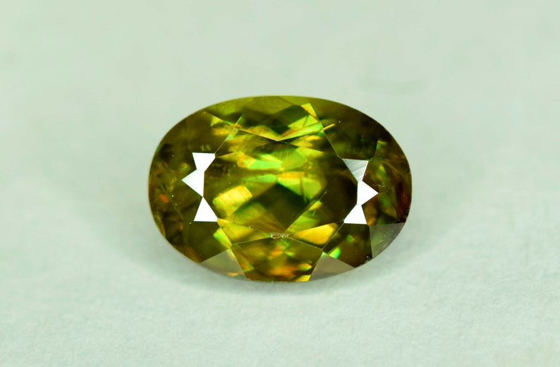 1.15 carats AAA Color Full Fire Mossy Green Sparkles Natural Chrome Sphene
