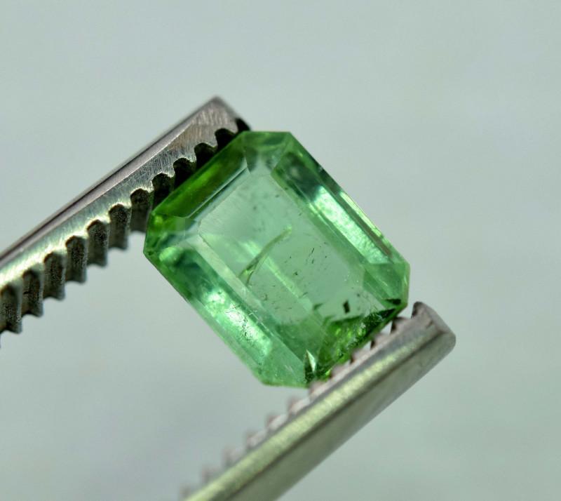 1.65 Carats Emerald Cut Teal Green Color Jaba Mine Afghanistan Tourmaline G