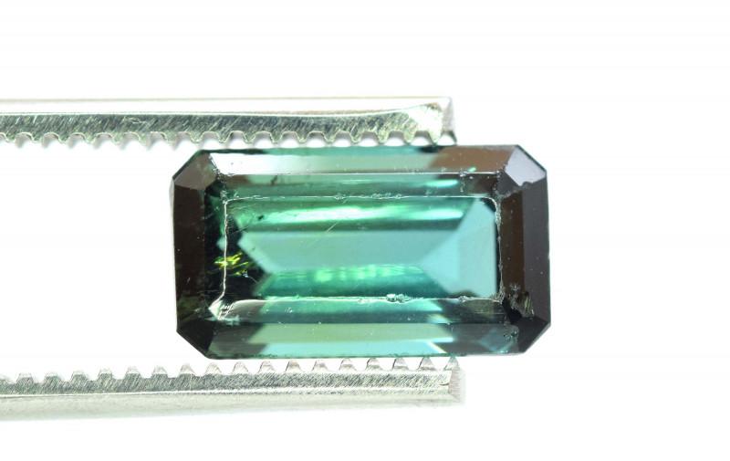 Certified 4.21 Carats Emerald Cut Natural Bluish Green Color Afghan Tourmal