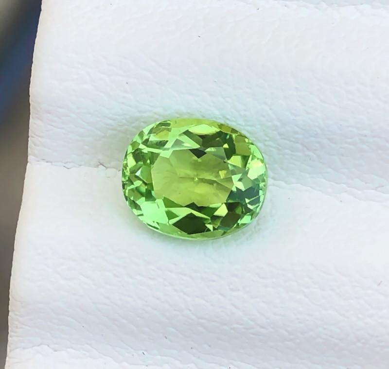 1.45 Ct Natural Green Transparent Tourmaline Ring Size Gemstone