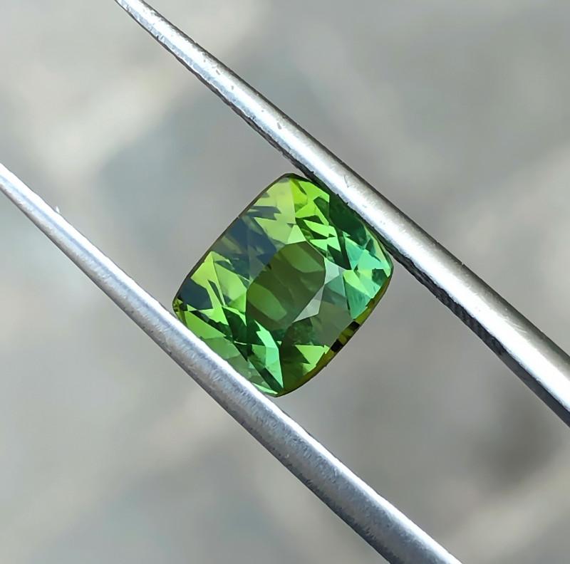 1.70 Ct Natural Greenish Yellow Transparent Tourmaline Ring Size Gemstone