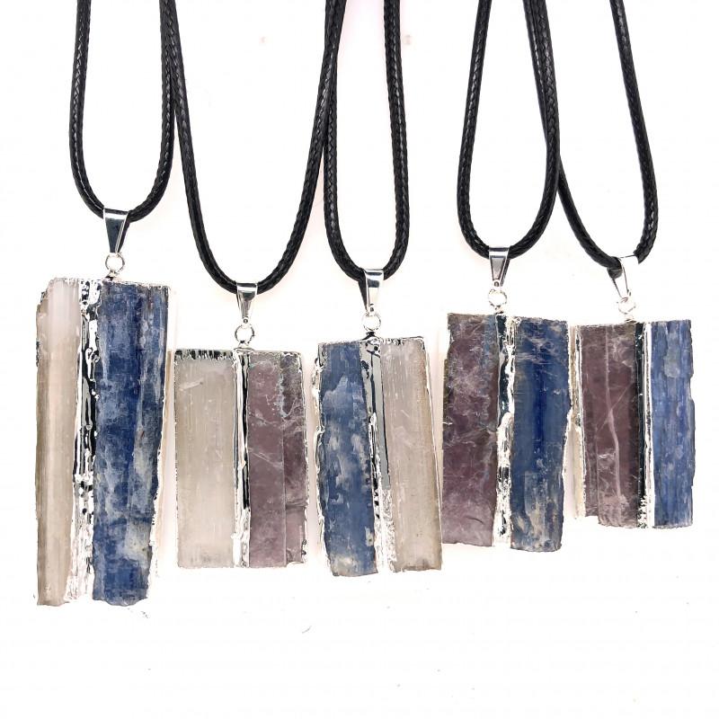 5 x Blue Kyanite, Mica and Selenite Pendant - BR 1447