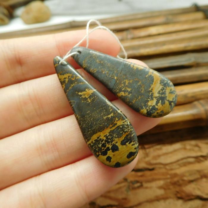 Chouhua jasper earring bead (G1808)
