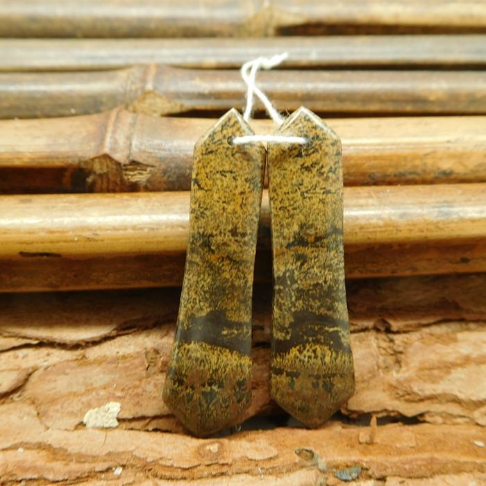 Natural gemstone earring pairs chouhua jasper (G1809)