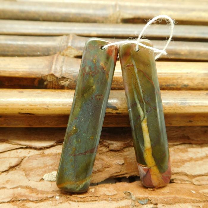 Red creek jasper earring pair (G1817)