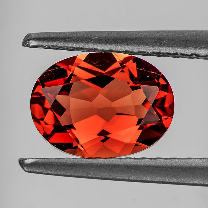 7x5 mm Oval 0.75ct Red-Orange Andesine [VVS]