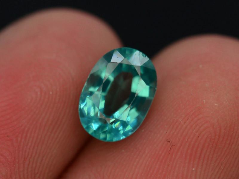 Great Luster 1.60 ct Rarest Neon Blue Color Apatite T
