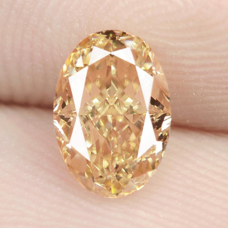 0.82 Carat Untreated Natural Fancy Vivid Orange Color Diamond VS1