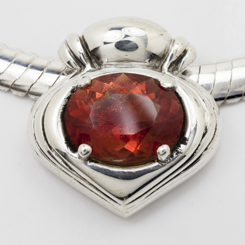 8.5ct Red Oval Oregon Sunstone Pendant (S401P)