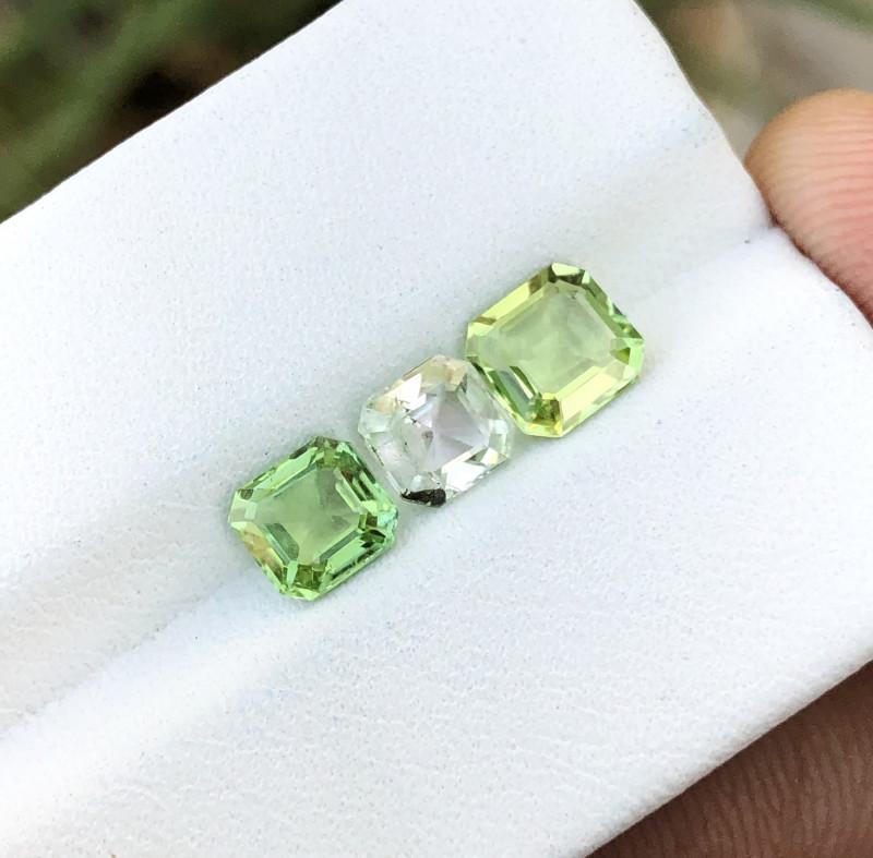 2.40 Ct Natural Greenish Transparent Tourmaline Gemstones Parcels