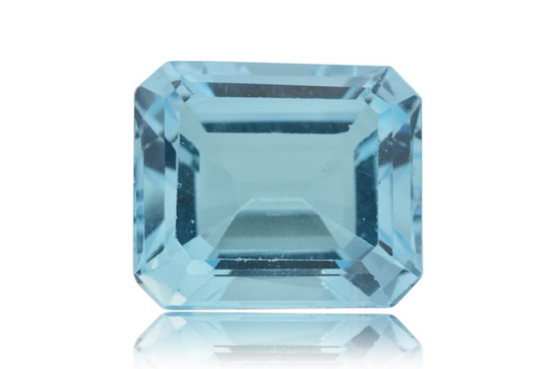 13 ct Genuine 14 x 12 mm Emerald Cut Sky Blue Topaz Natural Gem