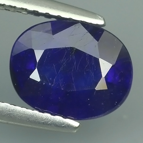 3.15 Cts Natural Intense Beautiful Blue Sapphire Oval Shape From MADAGASCAR