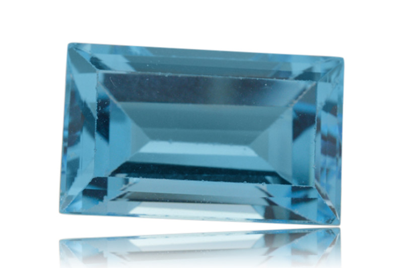12 ct Genuine 16 x 10 mm Baguette Cut Sky Blue Topaz Natural Gem