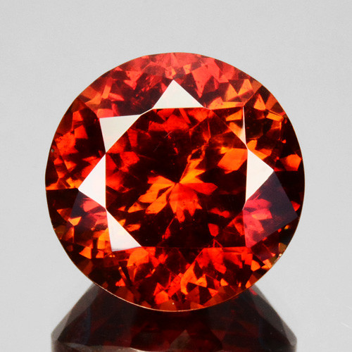 12.30 Cts Natural Fire Sunset Red Sphalerite Round Cut Spain Gem