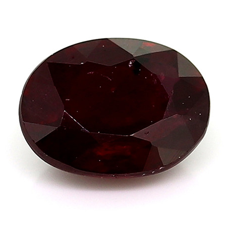 0.40 Carat Oval Ruby: Deep Darkish Red