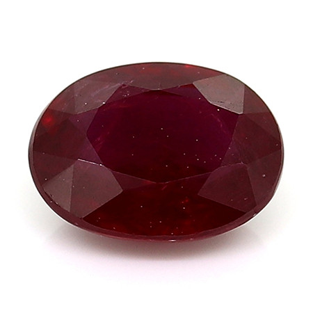 0.45 Carat Oval Ruby: Red