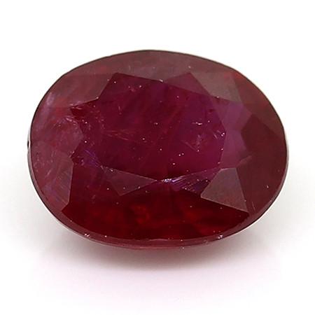 0.47 Carat Oval Ruby: Fine Purple Red