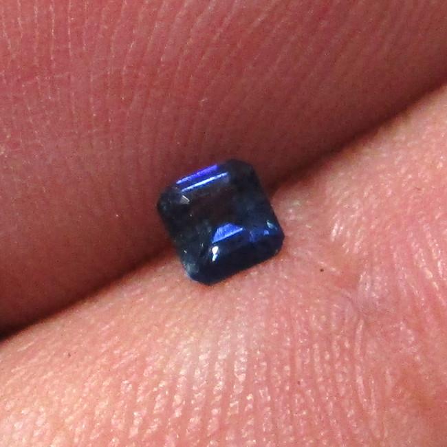 0.19cts Natural Australian Blue Sapphire Square Emerald Cut