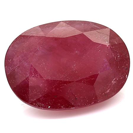 13.24 Carat Oval Ruby: Fine Purple Red