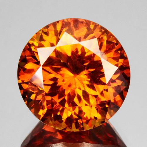 13.22 Cts Natural Fire Sunset Orange Sphalerite Round Cut Spain Gem