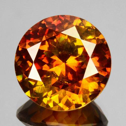 8.17 Cts Natural Fire Sunset Orange Sphalerite Round Cut Spain Gem
