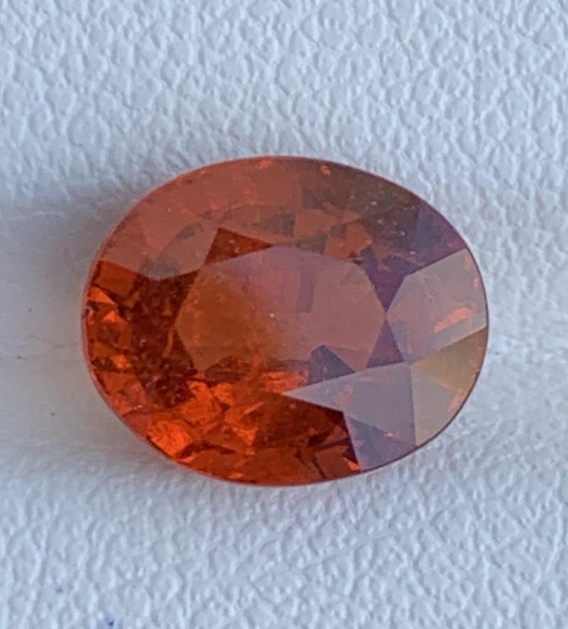 GFCO Certified 4.97 carats Fanta Orange Spessartite Garnet   Gemstone