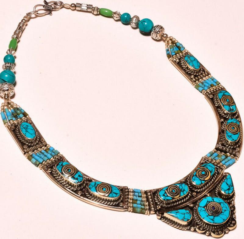 Tibetan  Ethnic Gemstone Fashion Jewelry Nepali Necklace 18