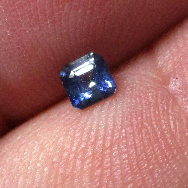 0.23cts Natural Australian Blue Sapphire Square Emerald Cut