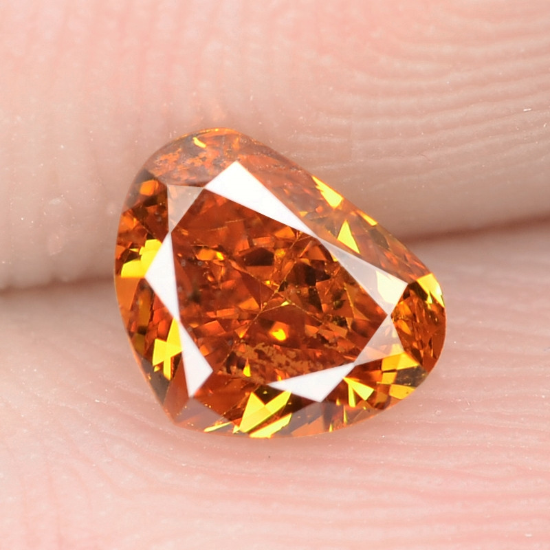 0.57 Cts Untreated Fancy Vivid Orange Natural Loose Diamond