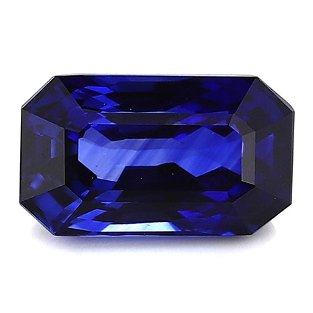 2.83 Carat Emerald Cut Blue Sapphire: Rich Royal Blue