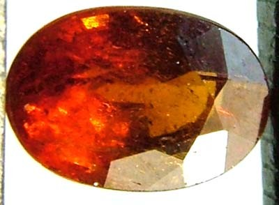 GARNET SPESSARTITE FACETED 0.75 CTS  FN 4475  (PG-GR)