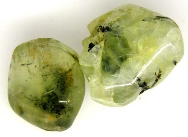 PREHNITE BEAD DRILLED 2 PCS 30 CTS   NP-1349