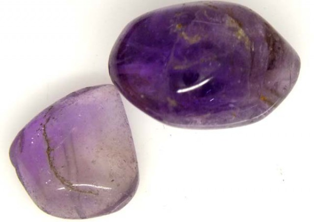 AMETHYST BEAD NATURAL 2 PCS 36 CTS  NP-1367