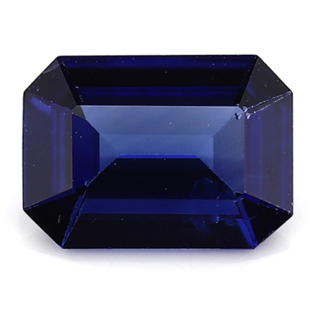 0.77 Carat Emerald Cut Blue Sapphire: Royal Blue