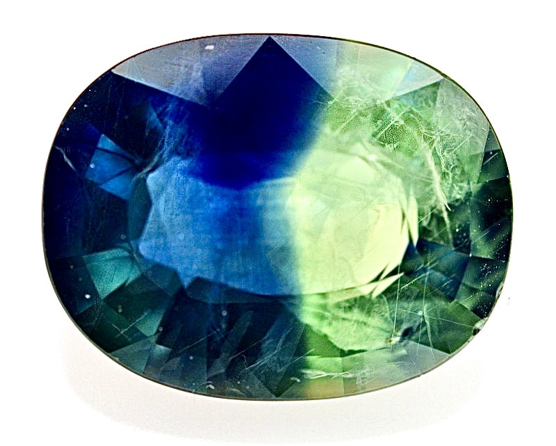 10.80 Ct Natural Bi~Color  Sapphire Gemstone