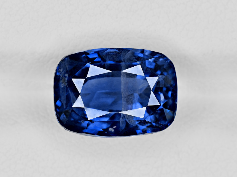 Blue Sapphire, 8.09ct - Mined in Kashmir | Certified by GIA & GRS