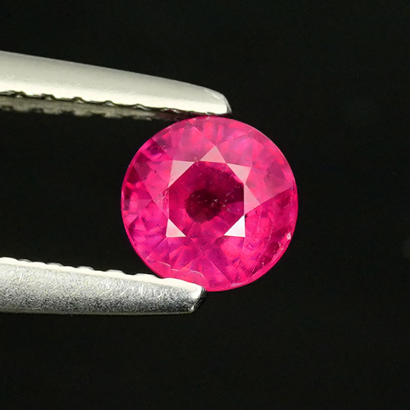 .75CT 5mm ROUND CUT SEARING SCARLET COMPOSITE RUBY (FF) $1NR!