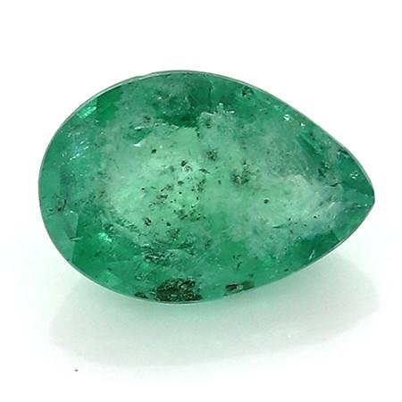 0.34 Carat Pear Shape Emerald: Fine Green