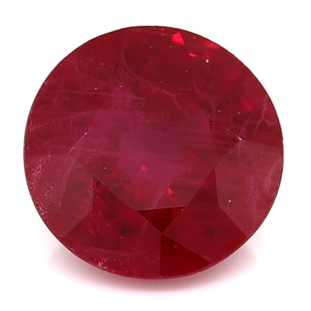 0.98 Carat Round Ruby: Rich Red