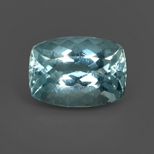 14.90 CTS ATTRACTIVE NATURAL TOP GRADE LUSTER  BLUE AQUAMARINE!!