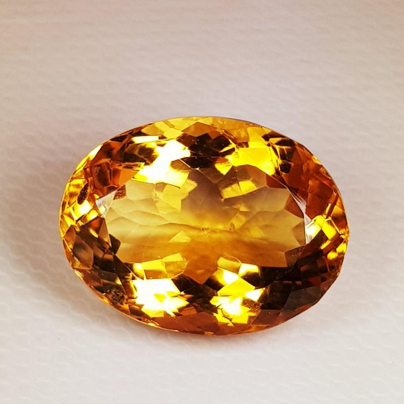 11.06 ct Top Quality Gem  Oval  Cut Natural Golden Orange Citrine