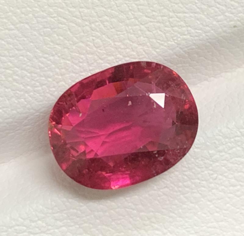 6.66 Carats Natural Color Rubellite Tourmaline Gemstone