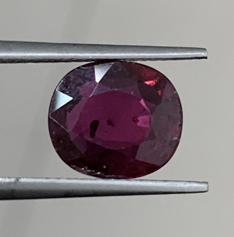 GFCO Certified 2.01 Carat Ruby Gemstones