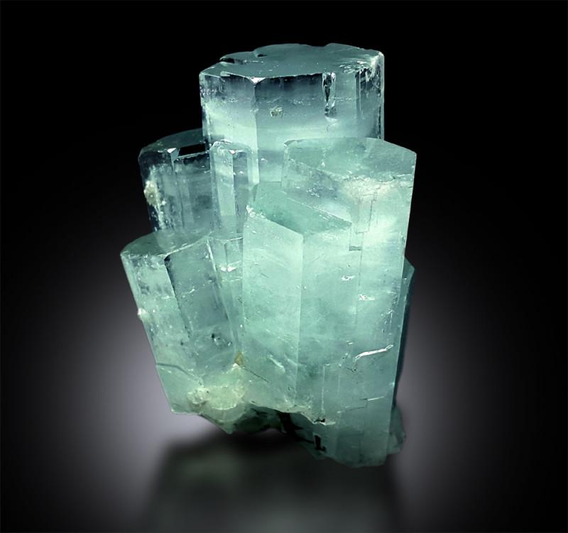 Aquamarine Crystals Cluster Mineral Specimen from Skardu Pakistan - 33 g ,