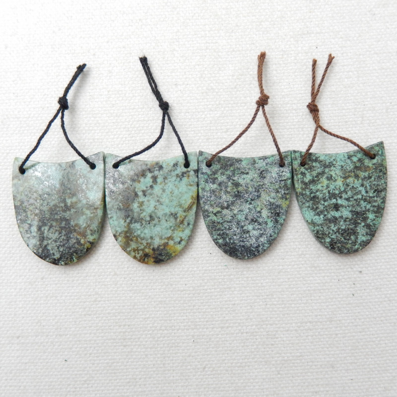 119cts African Turquoise Earrings ,Handmade Gemstone ,Turquoise Earring E39